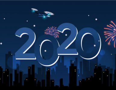 Docotel Official Blog - Kota-kota ini Pakai Drone untuk Gantikan Kembang Api di Pesta Tahun Baru 2020